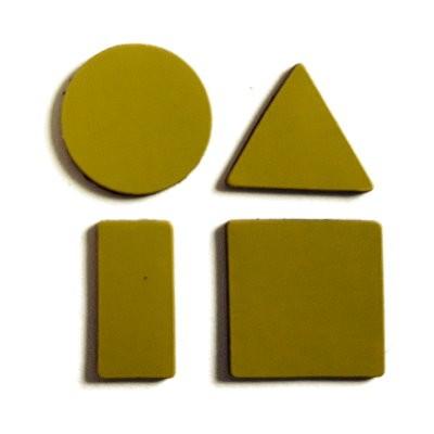 Symbole 20 mm gemischt, Bogenware aus Magnetfolie, gelb