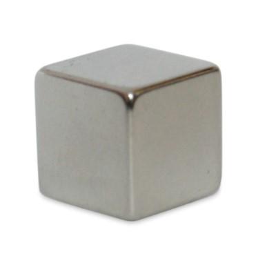Würfelmagnet 12 mm N48 Nickel