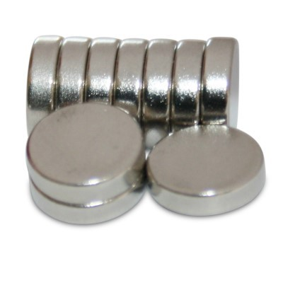 Scheibenmagnet 8x2 mm N45 Nickel