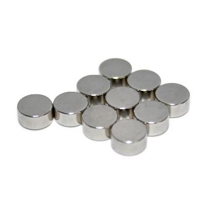 Scheibenmagnet 6x3 mm N45 Nickel