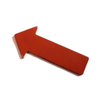 Pfeile 40x20 mm, Bogenware aus Magnetfolie, rot