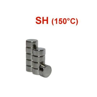 Scheibenmagnet 4x2 mm N44SH Nickel - hocherhitzbar