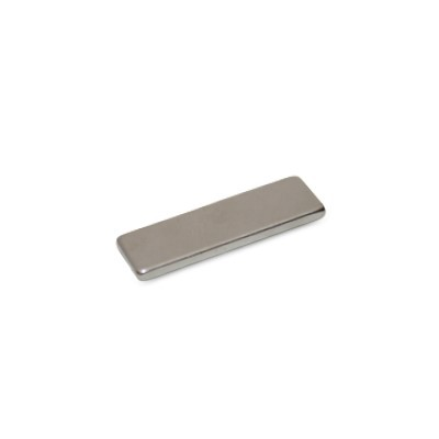 Quadermagnet 15x5x2 mm N45 Nickel