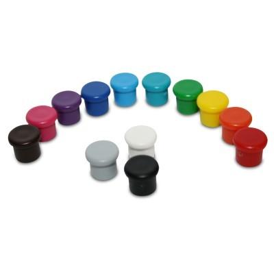 Kunststoffmagnet 10 mm Neodym als Regenbogenset
