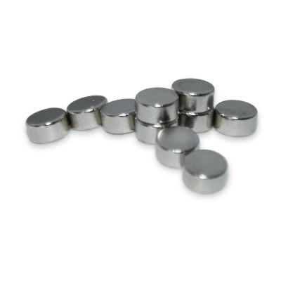 Scheibenmagnet 3x1,5 mm N50 Nickel