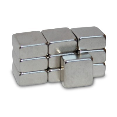 Quadermagnet 8x8x4 mm N45 Nickel