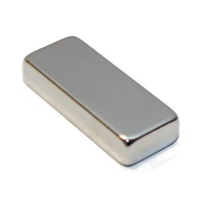 Quadermagnet 25x10x5 mm N45 Nickel