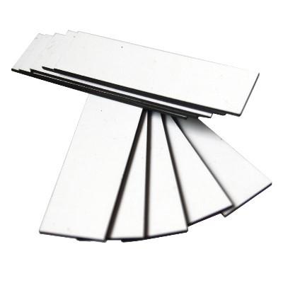 10 Magnetbandzuschnitte weiß 15x50 mm