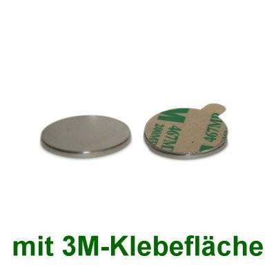 20 Scheibenmagnete 15x1 mm selbstklebend
