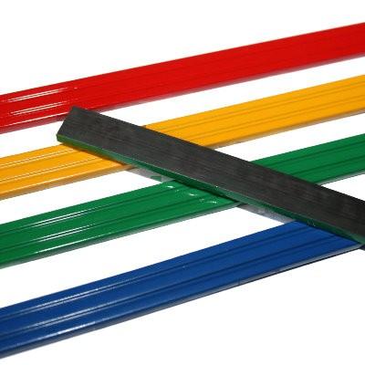 4 Kunststoffmagnetleisten 200 mm in vier Farben im Set
