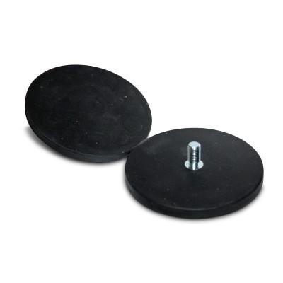 Magnetsystem gummiummantelt 88 mm mit Gewindezapfen
