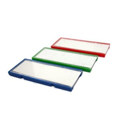 3 Magnetschilder / C-Profile 30x70 mm in 3 Farben im Set