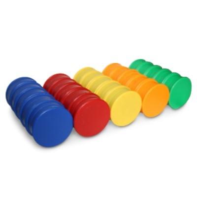 50 Kunststoffmagnete 40 mm Ferrit im Farbmix zum Sonderpreis