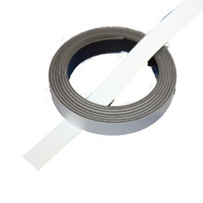 Magnetband 10 mm weiß