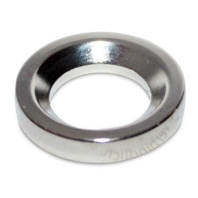 Ringmagnet 27x16x5 mm N42 Nickel mit Senkung - Restposten zum Sonderpreis