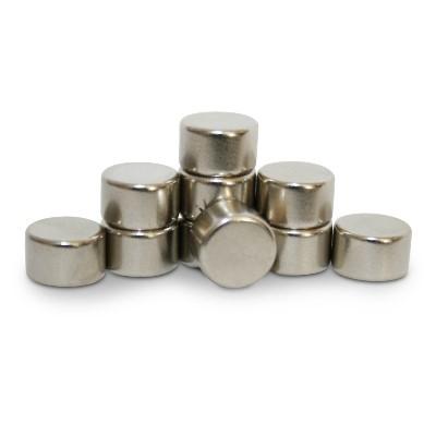 Scheibenmagnet 8x5 mm N45 Nickel