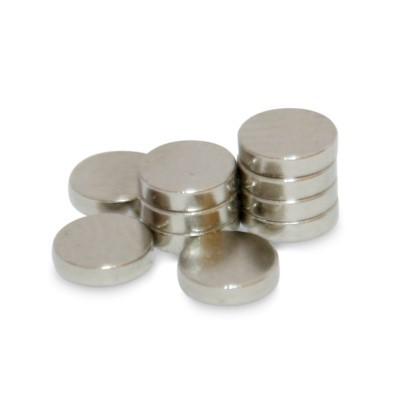 Scheibenmagnet 4x1 mm N50 Nickel
