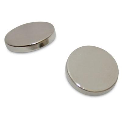 Scheibenmagnet 12x2 mm N45 Nickel