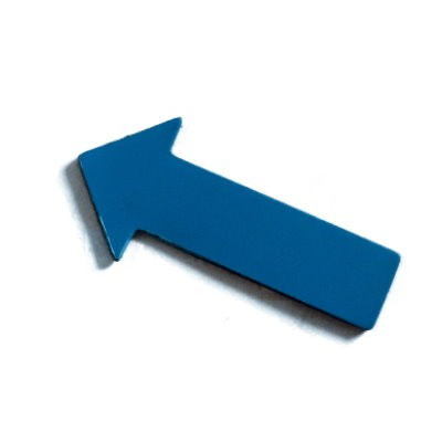 Pfeile 40x20 mm, Bogenware aus Magnetfolie, blau