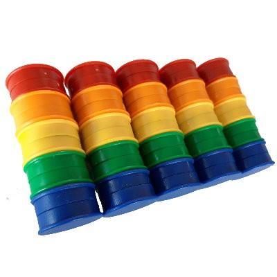 50 Kunststoffmagnete 30 mm Ferrit im Farbmix zum Sonderpreis