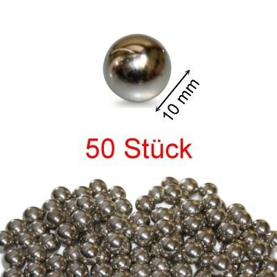 50 Stahlkugeln 10 mm ungehärtet