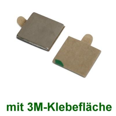 20 Quadermagnete 10x10x1 mm selbstklebend