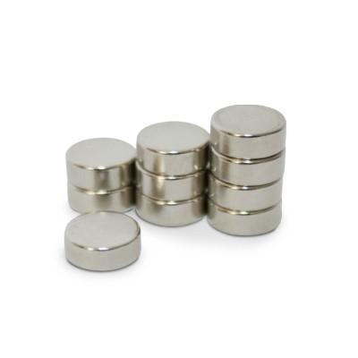 Scheibenmagnet 8x3 mm N45 Nickel