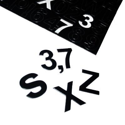 Buchstaben und Ziffern aus Magnetfolie schwarz