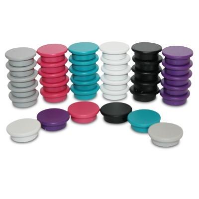 Kunststoffmagnet 20 mm Ferrit, 6 Farben wählbar